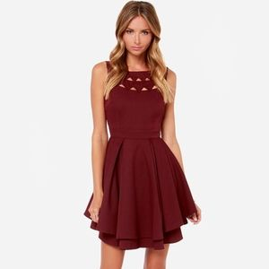 Lulus wine red dress